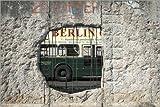 Posterlounge Leinwandbild 60 x 40 cm: Berliner Mauer von