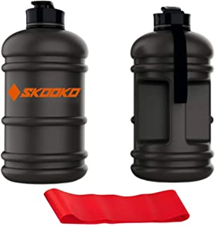 Skooko Water Bottle 2.2L + FREE Gift Resistance Band | Unbreakable, No smell, Strong Material, BPA Free | Special Matte Bl...
