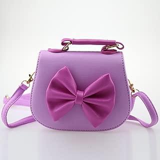 Dodocat Super Cute 3D Design Purple Bowknot Messenger Bag Kids Shoulder Bag Crossbody Handbag