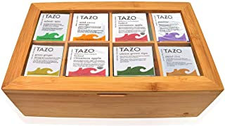 Tazo Tea Bags Sampler Assortment Gift Box - 80 Count - 14 Different Flavors Perfect Variety Pack in Bamboo Gift Box - Gift...