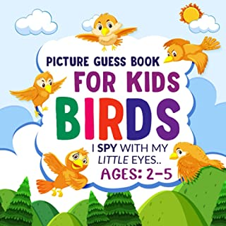 BIRDS- Picture Guess Book for Kids Ages: 2-5: I Spy with My Little Eyes... BIRDS Themed Fun Picture Seek and Find Activity...