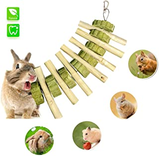 Bunny Chew Toys,UJIANG Bunny Toys for Teeth,Improve Dental Health - Natural Organic Sweet Bamboo- Handmade,Suitable for Rabbits, Chinchillas, Guinea Pigs, Hamsters, Chewing/Playing