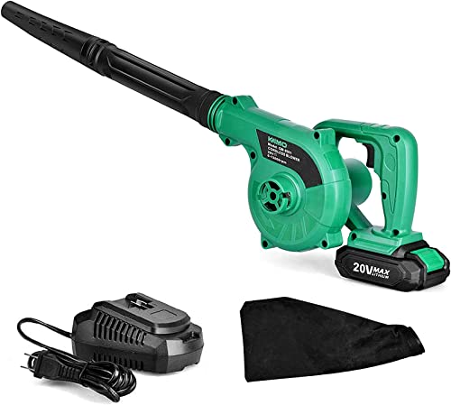 Cordless-Leaf-Blower---20V-2.0-Ah-Lithium-Battery-2in1-Sweeper-/-Vacuum-for-Blowing-Leaf