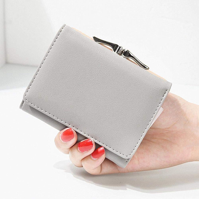 Girls Purse Women's Wallet,Ladies Wallet Short Mini Student Purse Wallet PU Leather (color   E)