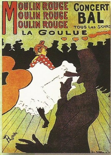 FRANSE VINTAGE METAAL SIGN 40X30cm RETRO POSTER MOULIN ROUGE LA GOULUE - M862
