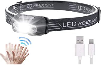 LED Sensor Headlamp, Headlamp Flashlight Rechargeable Headlamp 500 Lumens XPG2 Headlight for Running Biking Fishing Campin...