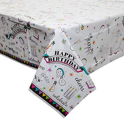 Doodle-accessoires voor verjaardagen Tafelkleed 84