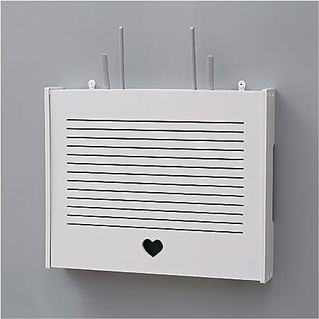 YTREDF WiFi Caja de Almacenamiento de Router Set-Top Caja Estante, Router WiFi Inalámbrico Estanteria Flotante Pared, para Caja de Cables, Altavoces, TV Set-Top #1-Small (41 * 31 * 7.5cm)