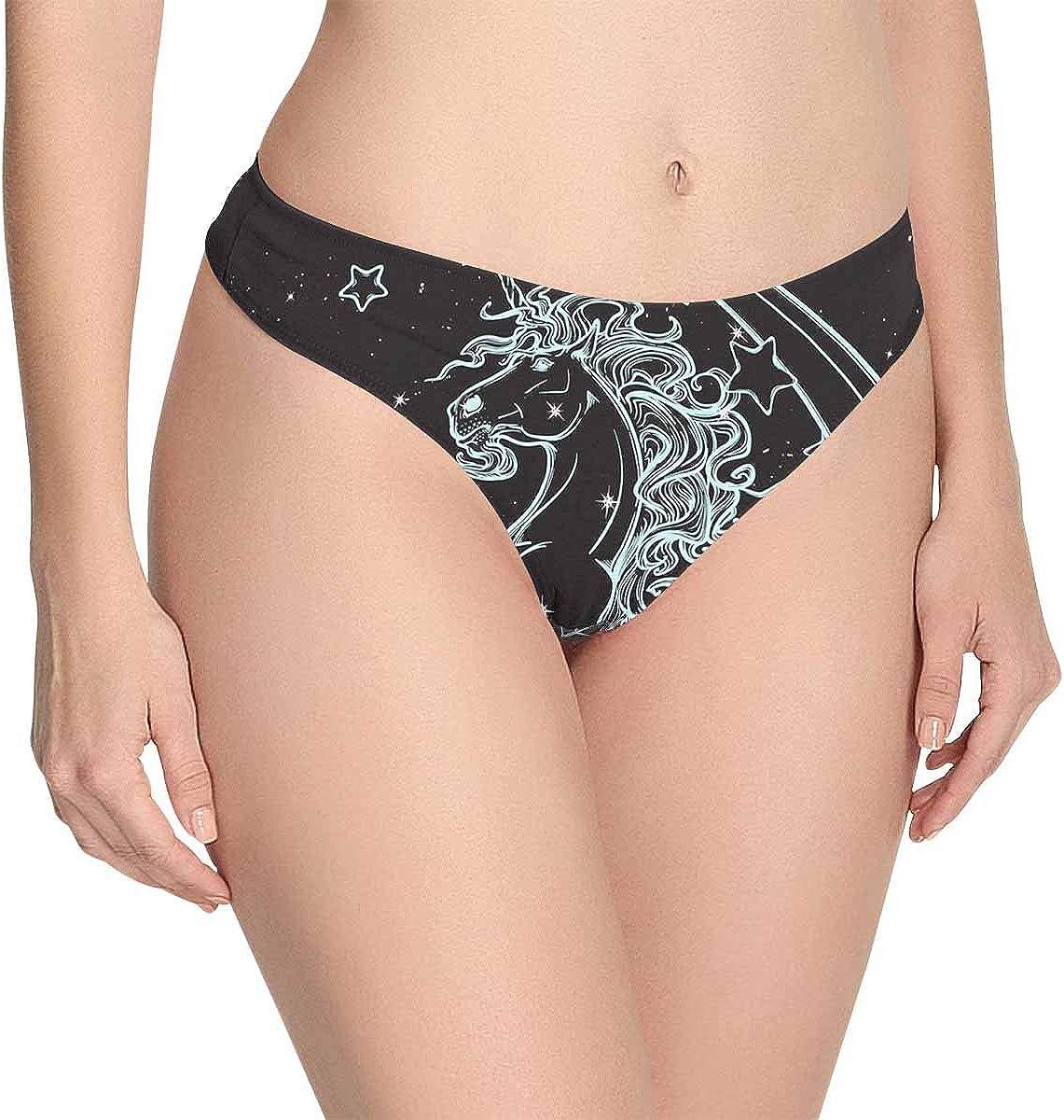 INTERESTPRINT Tulips on Wooden Womens Classic Panties Breathable Underwear Thongs