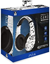 4GAMERS PRO4-70 Camo Stereo Gaming Headset, Arctic (PS4)