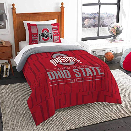 Officially Licensed NCAA Ohio State Buckeyes 'Modern Take' Twin Comforter and Sham