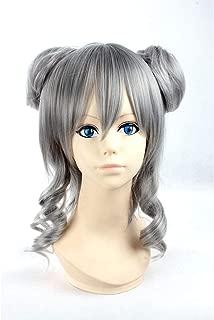 HOOLAZA Gray Medium Curly Wig Vocaloid Yowane Haku for the Halloween Party Cosplay Wig