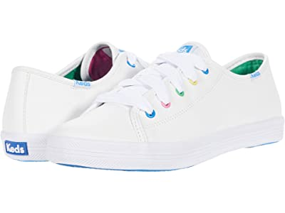 Keds Kids Kickstart Seasonal (Little Kid/Big Kid) (White/Multi) Girl