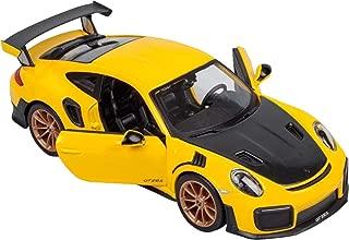 Maisto Porsche 911 GT2 RS Yellow with Carbon Hood 1/24 Diecast Model Car 31523