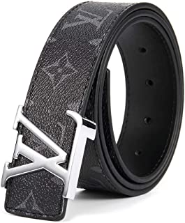 f3a85c1e Shannon S Isom Belt for Women Men Replica Faux Black Belts for Womens Mens  Fashion Leather