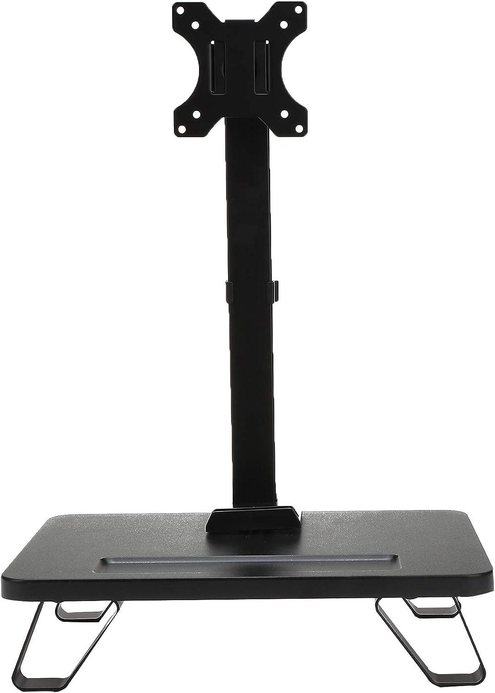 Mind Reader MONARM-BLK Single LCD Monitor Mount, Adjustable Tilt Feature for 1 Screen 17