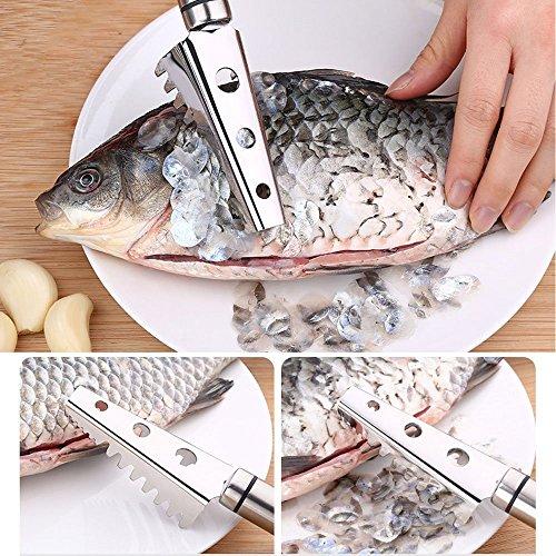 うろこ取り魚の鱗除去器スクレーパーステンレス製キッチン用品調理器具業務用