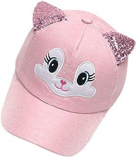Cappello Carino con Pois Cappello da Sole per Bambini Cappelli con Visiera Regalo per Comunione Bambino Rmoon Cappello da Sole per attivit/à Cappello Bimba Neonata