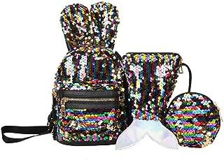 3pcs/set Shining Women Sequins Backpacks Teenage Girls Travel Large Capacity Bags Glitter Rucksack Party School Bags Backpack