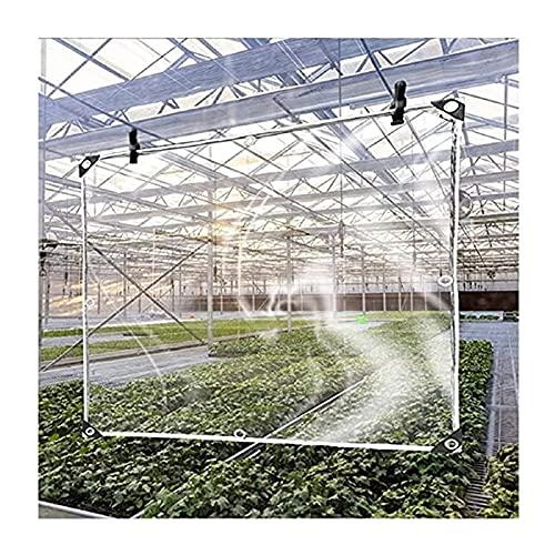GGYMEI Telone Trasparente con Perforazioni, Tenda Divisoria per Balcone Pergolato Panno Impermeabile Trasparente Tenda da Esterno Antivento Personalizzabile (Color : Chiaro, Size : 2.7x1m)