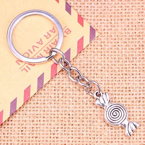 N/ A Fashion Sleutelhanger 12x26mm snoep snoepjes Hangers DIY Mannen Sieraden Auto Sleutelhanger Ring Houder Souvenir Voor Gift