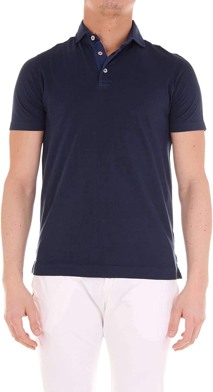 HERITAGE Men's 0820P51895 blueee Cotton Polo Shirt