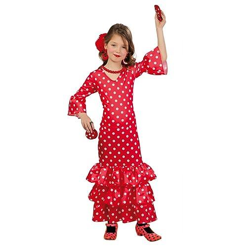 Guirca - Disfraz Andaluza, talla 3-4 años, color rojo (83169 ...