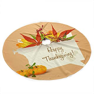 Qinf Happy Thanksgiving in Autumn Christmas Tree Skirt 35.5