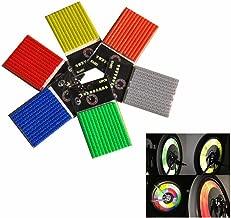 GOOTRADES 6 Sets/72pcs Bicycle Wheel Spoke Reflector Reflective Mount Clip Tube Warning Strip