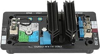 Zouminyy Regulador de voltaje, R250 AVR Regulador de voltaje automático Sin escobillas Sistema de generación diesel Accesorios del sistema