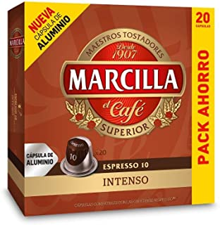 Capsulas Compatibles Nespresso®* Marcilla Intenso 20