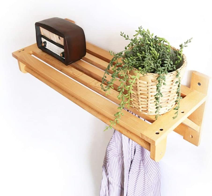 YINGGEXU Austin SEAL limited product Mall Shelf Floating Solid Wood St Mount Household Wall