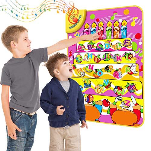 Magicfun ABC Interaktives Lernspielzeug, Alphabet Lernposter für Kleinkinder und Vorschulkinder, Mein erstes ABC Aktivitätsmatte mit interaktivem Spiel und Musik, 70 x 47 cm, Englischer, Alter 3+