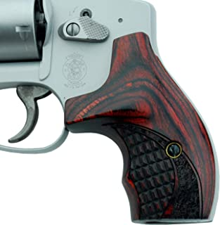 Altamont - S&W J Round Revolver Grips - Boot - Real Wood Gun Grips fit Smith & Wesson J Frame Round Butt .38 Special and 9mm Revolvers - Made in USA