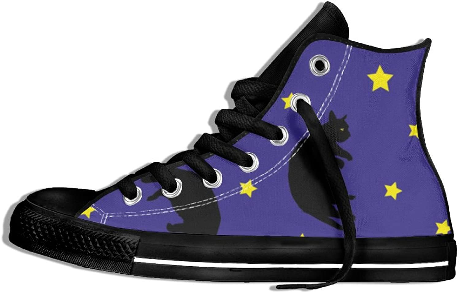 Womens Hi-Top Canvas Sneakers Star Sky Cat Round Toe Non-slip Sports Trainers shoes