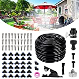 """Bearbro Misting Cooling System,Mister for Patio,78.7FT(24M) Misting Line DIY Outdoor Mist Cooling Kit +30 Copper Metal Mist Nozzles +20 Tube Ties + a Connector(3/4"""") Great for Patio Garden Greenhouse"""