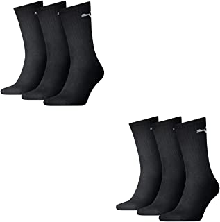 6 pair Puma Sport Socks Tennis Socks Gr. 35 - 49 Unisex, Farben:200 - black, Socken & Strümpfe:47-49