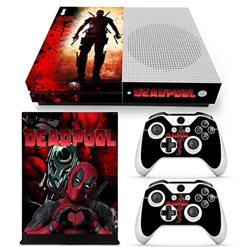 ZoomHit Xbox One S Console Skin Decal Sticker SuperHero + 2 Controller Skins Set (S Only