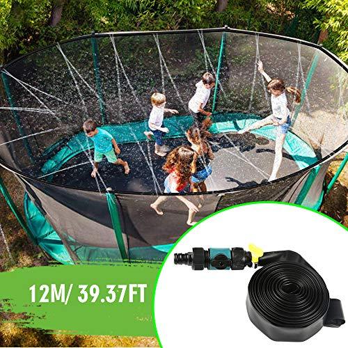 Innoo Tech Trampolin Sprinkler Outdoor Trampolin-Wasser-Sprinkler für Kinder Wasserspaß-Park Sommerspizelzeug Trampolin Zubehör 39 Fuß, Schwarz (A)