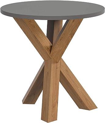 Movian Table de Lampe Ronde, 50 x 50 x 44,8 cm, chêne Massif/MDF