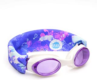 SPLASH Swim Goggles - Unicorn Splash - Comfortable, Fashionable, Fun - Fits Kids & Adults - Won't Pull Your Hair - Easy to Use - High Visibility Anti-Fog Lenses - Original Patent Pending Design