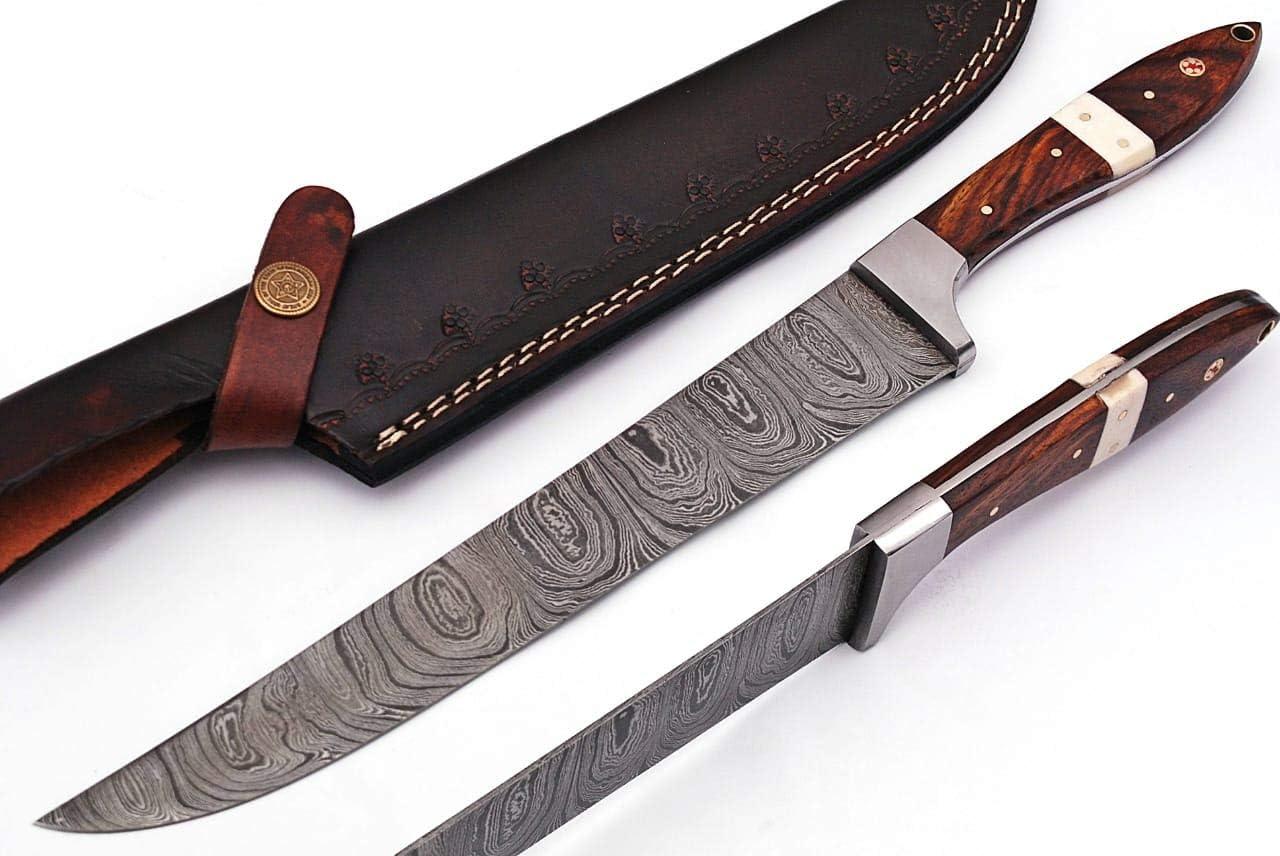 Custom Handmade Beautiful Professional Max 85% Fort Worth Mall OFF Slicer knife wit Damascus