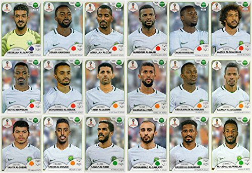 PANINI WORLD CUP 2018 STICKERS - 18 SAUDI ARABIA STICKERS - TEAM SET - PLAYERS ONLY #54 - #71