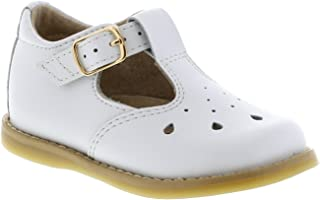 FootMates Baby Girl's Harper T-Strap White - 7200/6 Toddler M/W