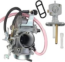 KLF300 Carburetor for Kawasaki BAYOU 300 KLF 300 1986-1995 1996-2005 Carb with Fuel Gas Petcock Valve Switch Pump by TOPEMAI