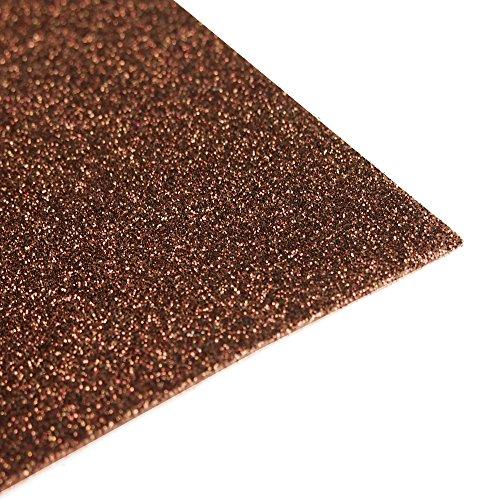 Glitter EVA Foam Sheet, 9-1/2-Inch x 12-Inch, 10-Pack (Brown)
