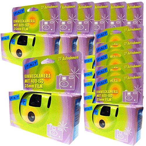 12 x FOTO PORST engångskamera/bröllopskamera/engångskamera 27 foton med blinkning, 12-pack)