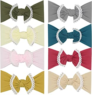 Baby Super Stretchy Nylon Knotted Headbands Baby Headwraps Baby Headbands Bows