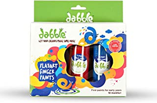 Dabble Finger Paints for Playtime Fun, Toddlers and Children, Child Safe, Non Toxic, Lab Tested, Return Gifts, Made in India