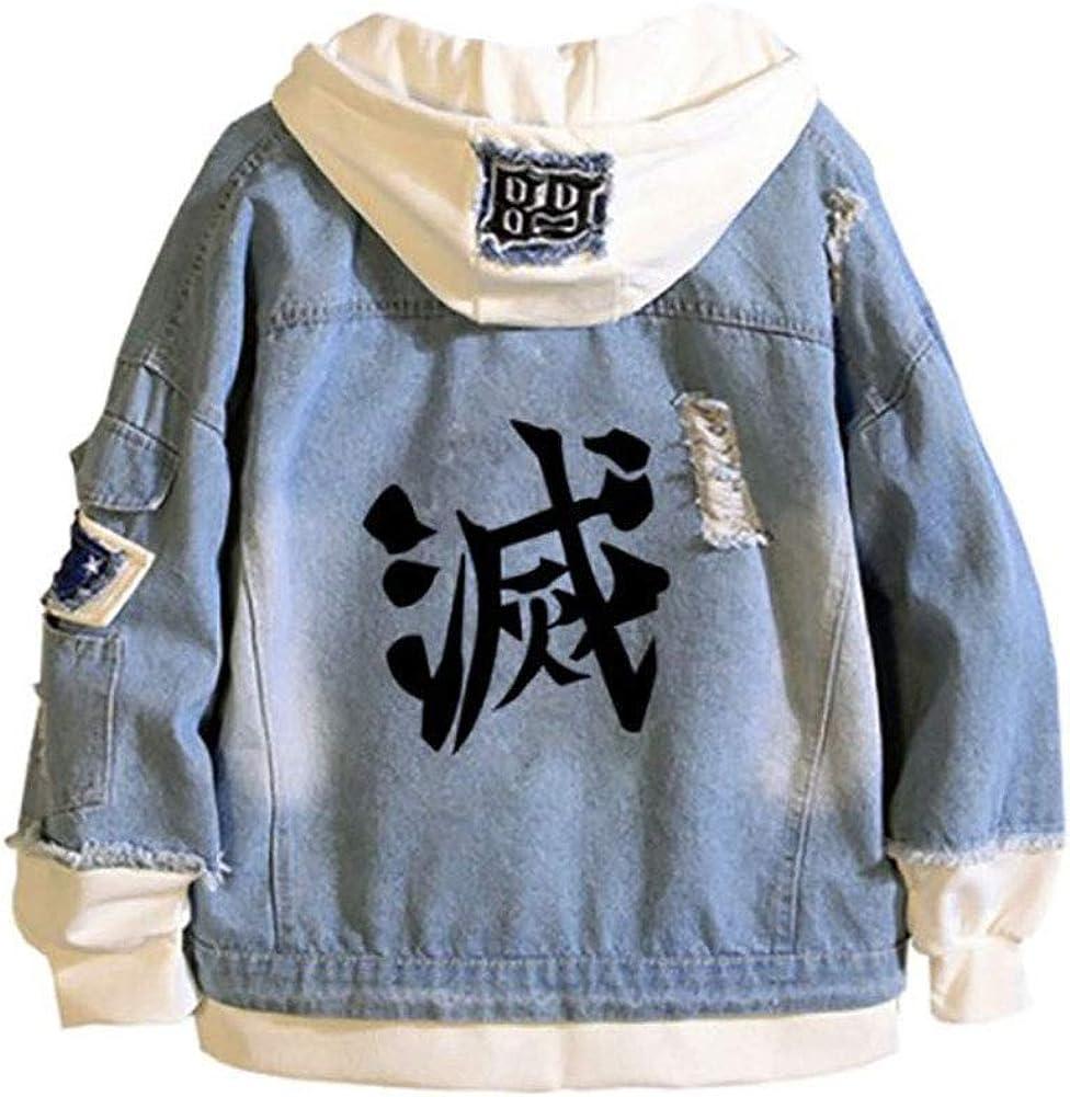 Kamado Tanjirou Jeans Jacket Kimetsu no Yaiba Hoodie Denim Jeans Coat
